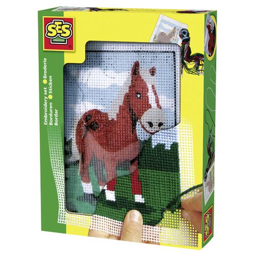 Afbeelding van Hobbyset SES Borduurset Paard