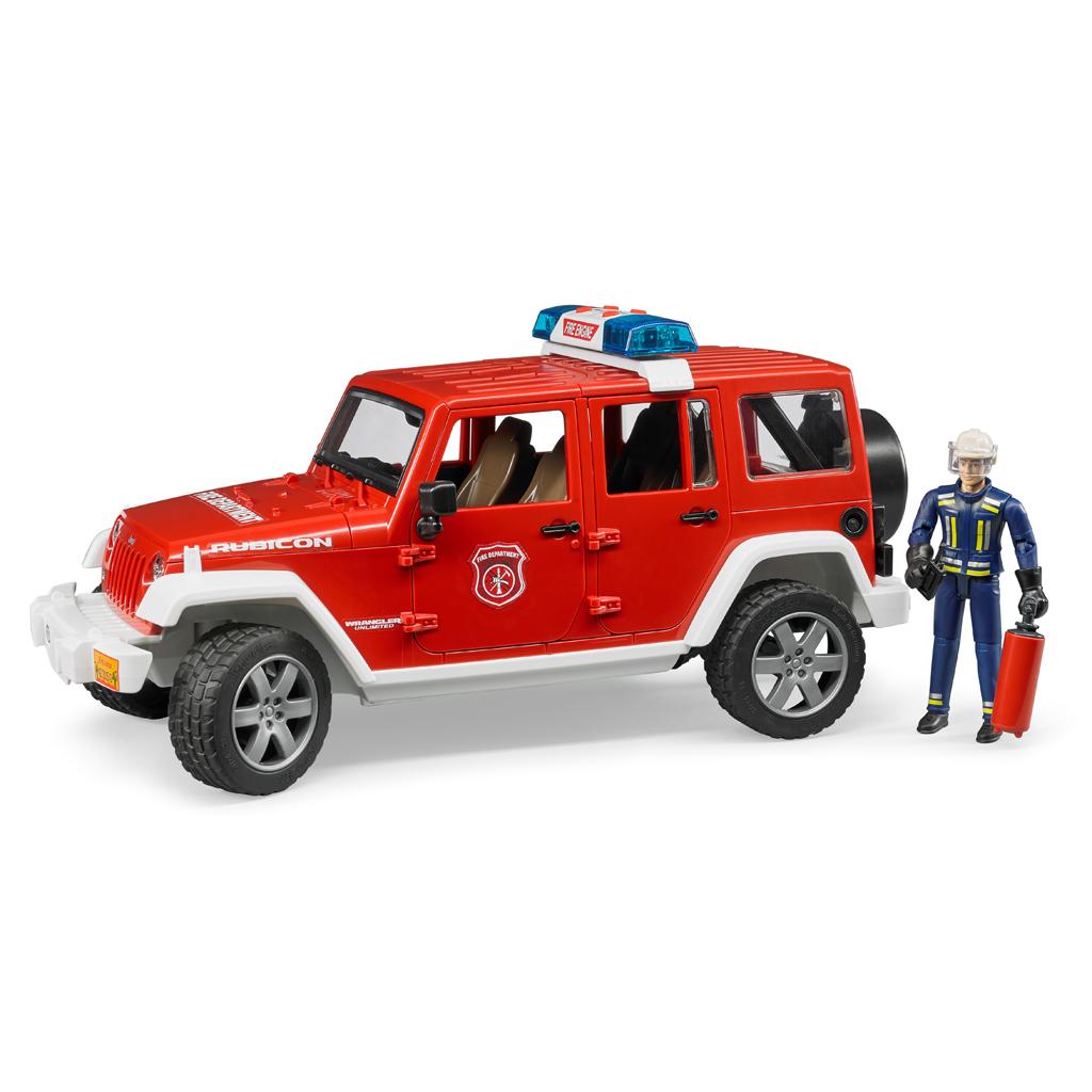 Afbeelding van Auto Bruder Jeep Wrangler Brandweer