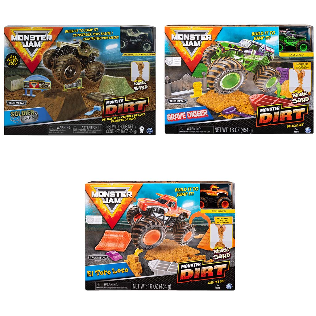Afbeelding van Monster Jam Monster Dirt Deluxe set 1:64