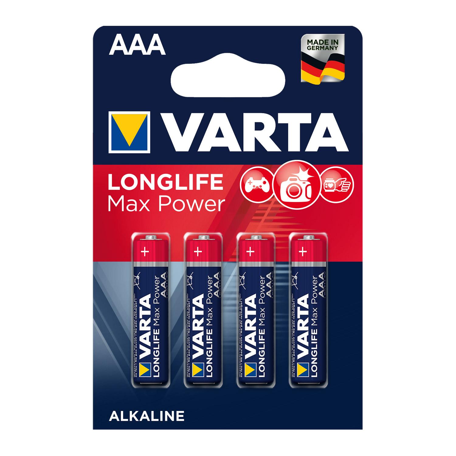 Afbeelding van Batterij AAA 4x Varta Alkaline Max Power