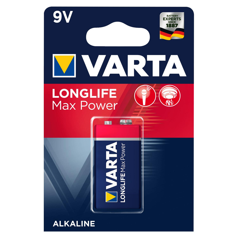 Afbeelding van Batterij 9V Varta Alkaline Max Power