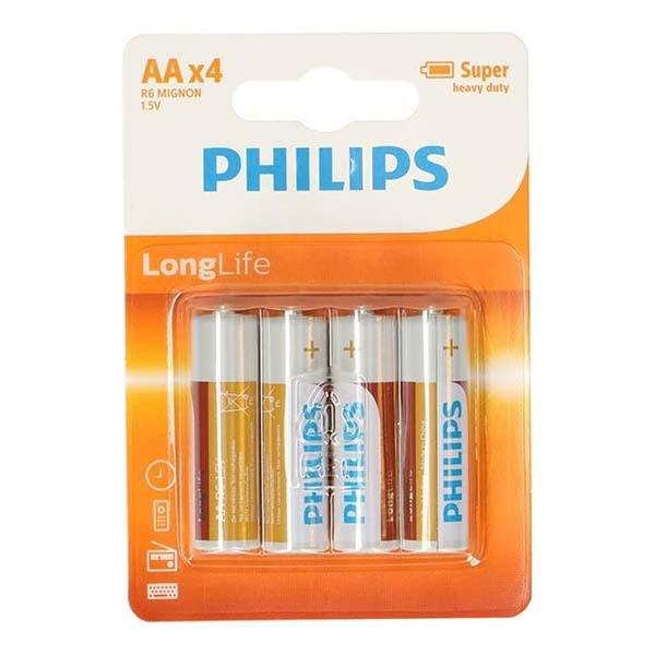 Afbeelding van Batterij AA 4 Stuks Philips Longlife