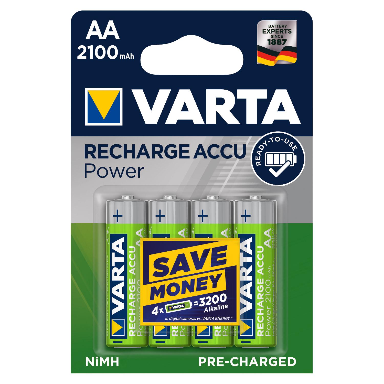Afbeelding van Batterij AA 4x Varta 2100mah Oplaadbaar
