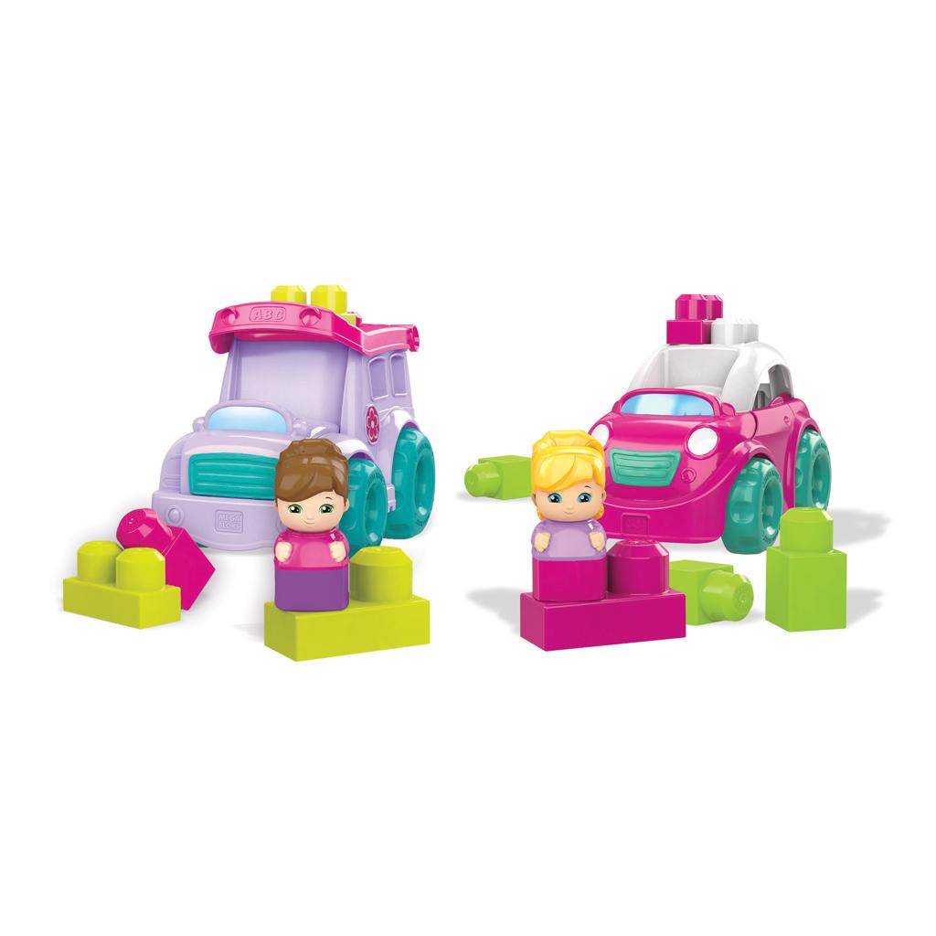 Afbeelding van Mega Bloks Kleine Voertuigen Roze Assorti