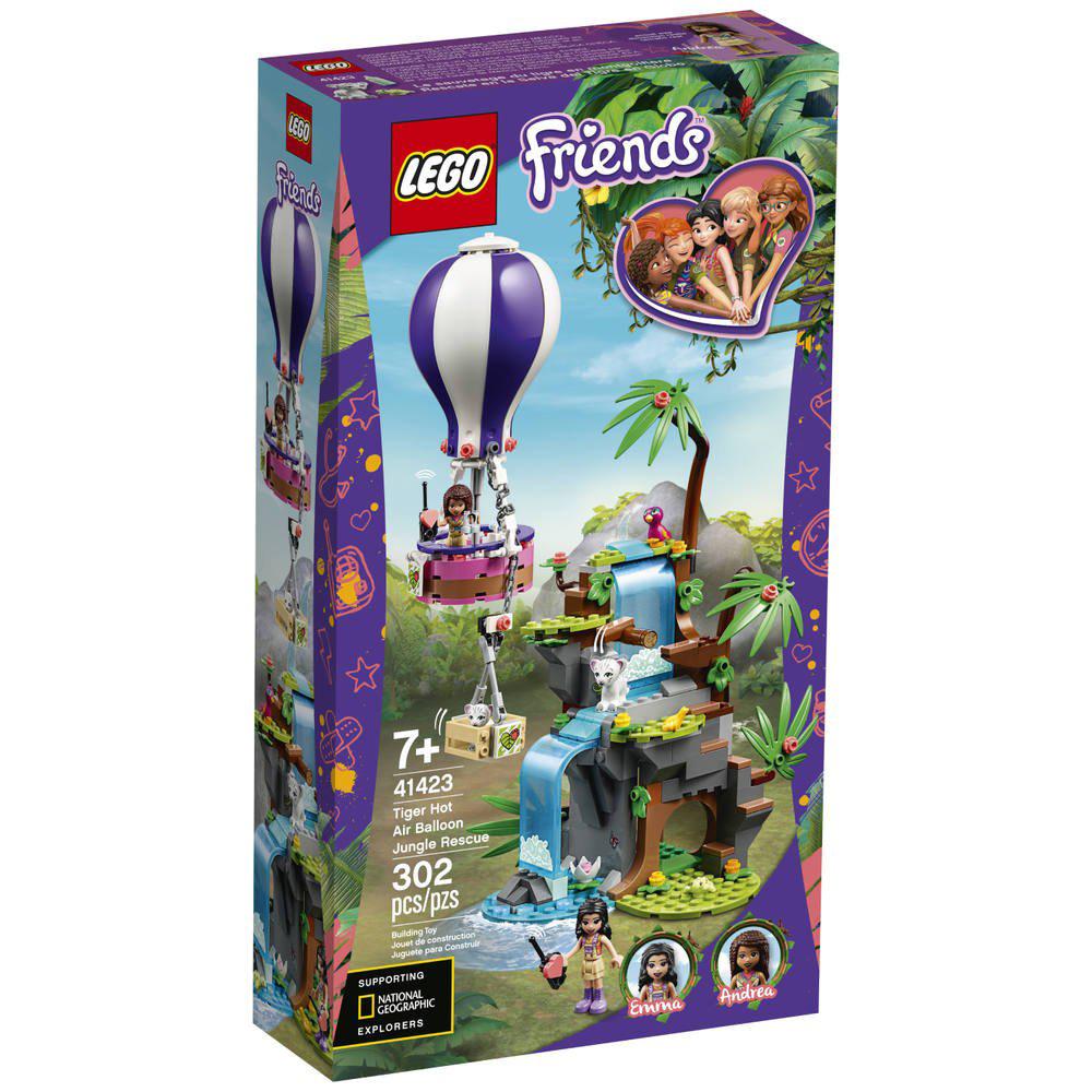 LEGO Friends Tijger Reddingsactie met Luchtballon in Jungle – 41423