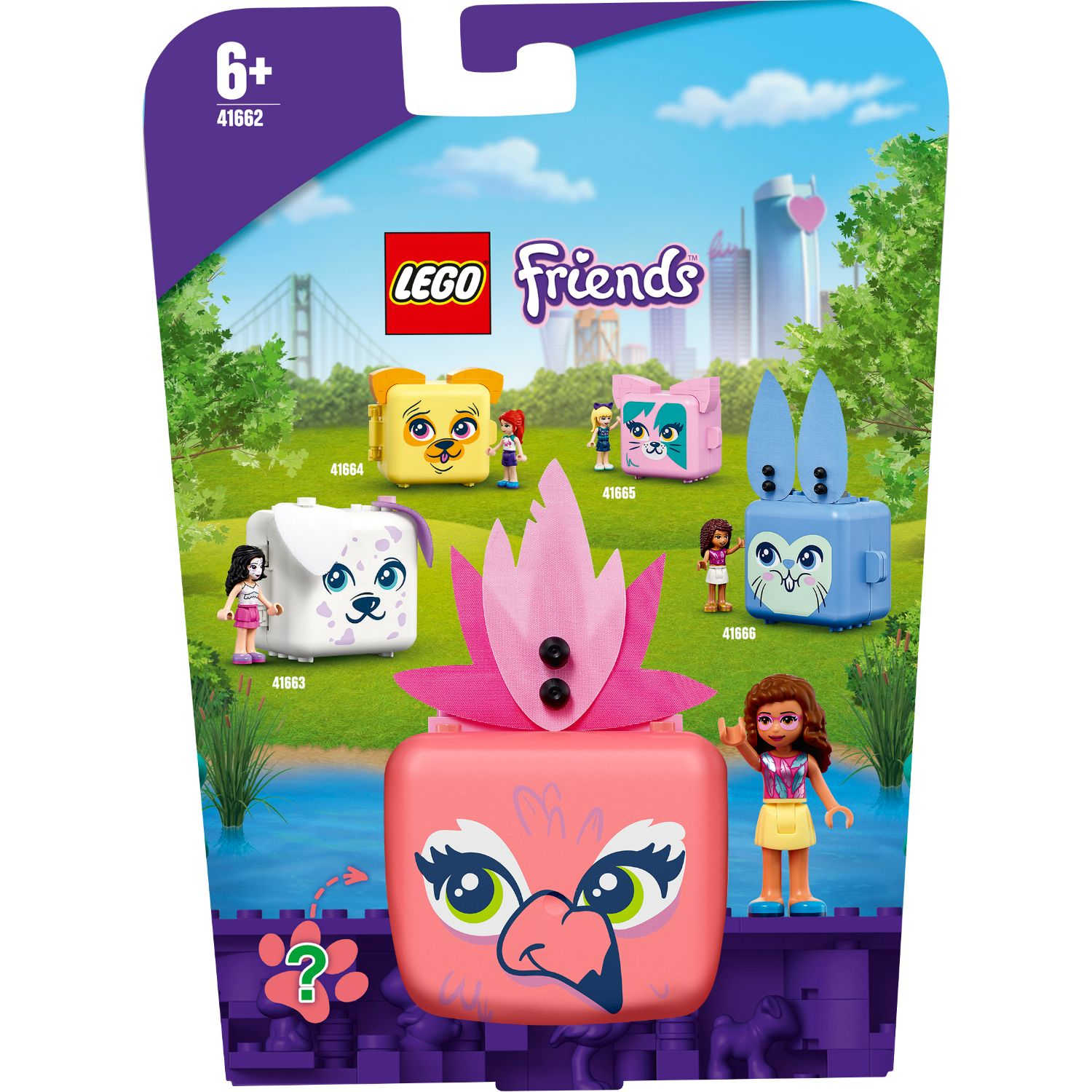 LEGO Friends 41662 Olivia's Flamingokubus