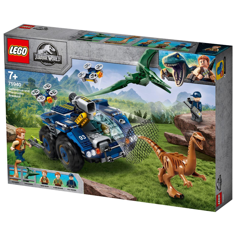 LEGO Jurassic World 75940 Ontsnapping van Gallimim En Pteranodon
