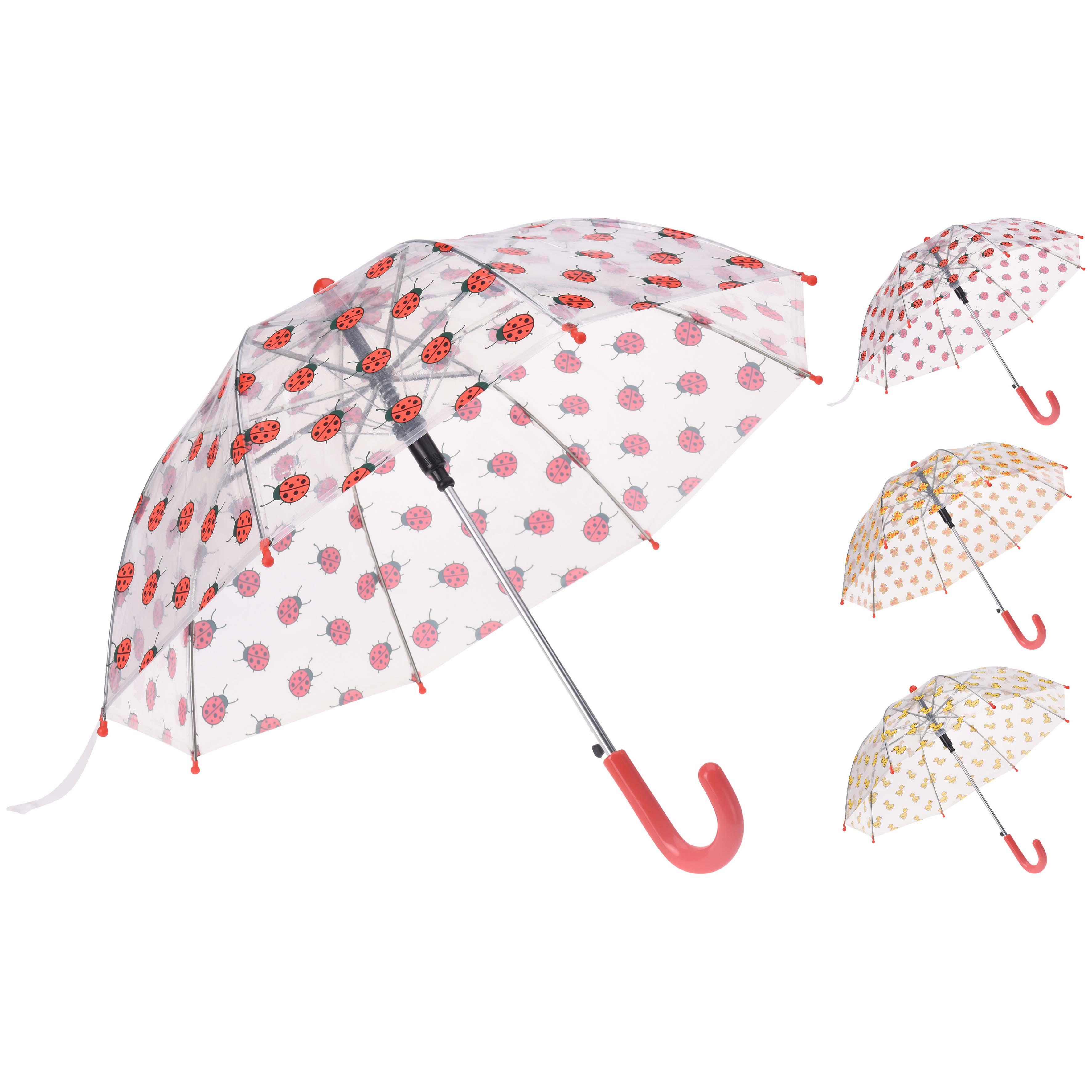 Afbeelding van Paraplu Dieren Transparant Assorti