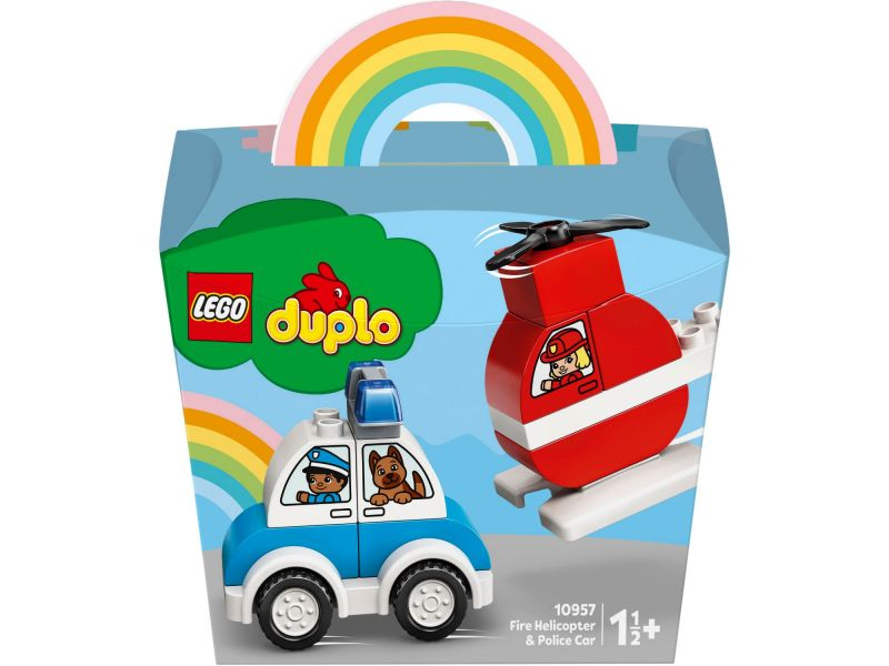 LEGO DUPLO 10957 Fire Helicopter En Police Car