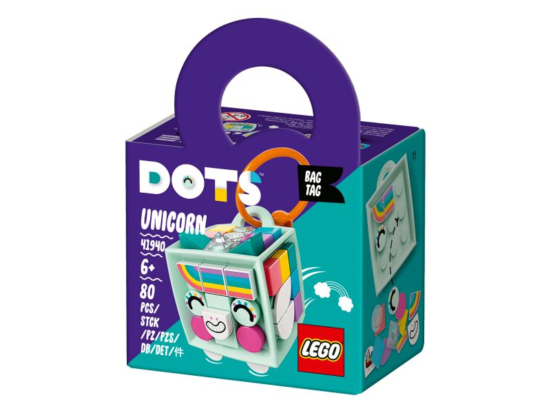 LEGO Dots 41940 Tassenhanger Eenhoorn