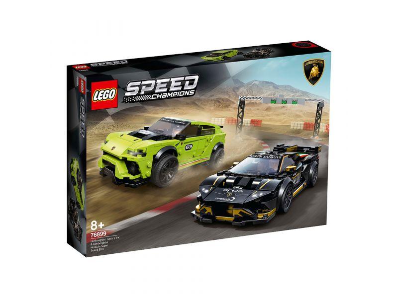 LEGO Speed Champions 76899 Lamborghini Urus ST-X & Lamborghini Huracán Super Tro