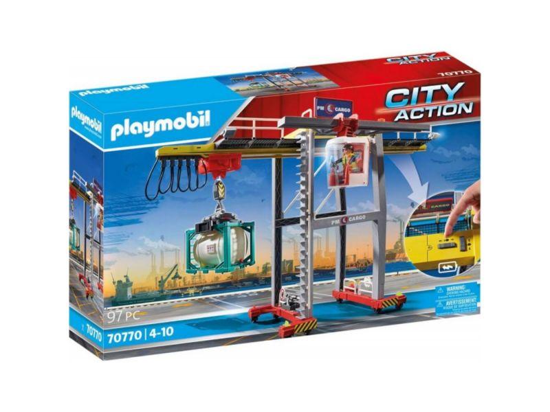 Playmobil 70770 Portaalkraan Met Containers
