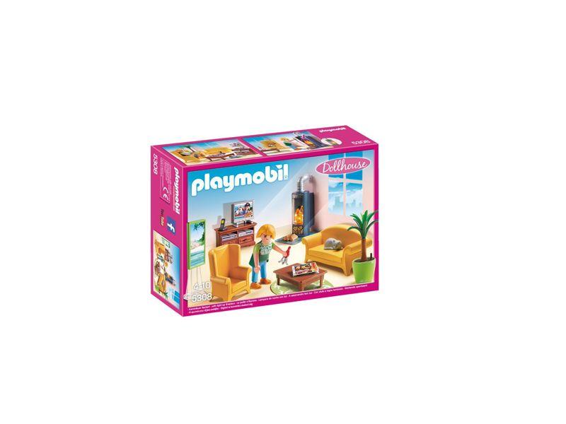 Playmobil 5308 Woonkamer Met Houtkachel