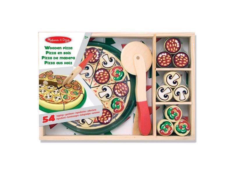 Houten Pizza 54-Delig