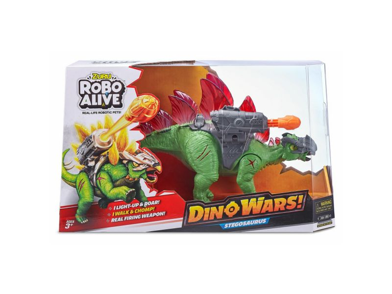Robo Alive Stegosaurus Glow In The Dark Zuru - Dinosaurus