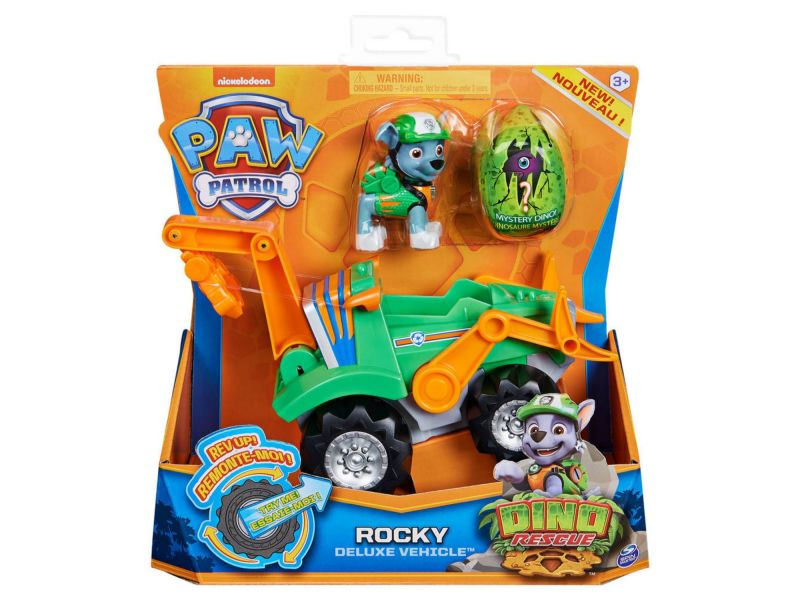 Paw Patrol Dino De Luxe Themed Vehicle Rocky