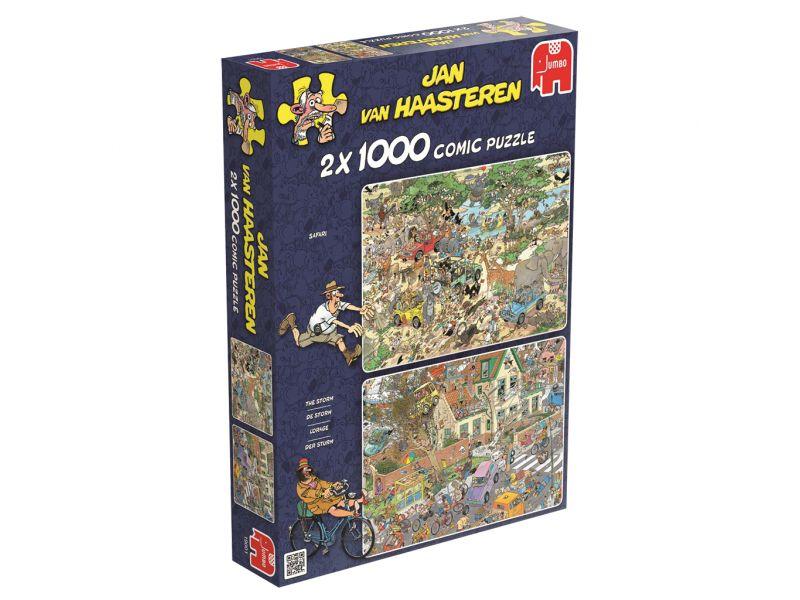 Jan Van Haasteren Puzzel Safari & Storm 2x1000 Stukjes