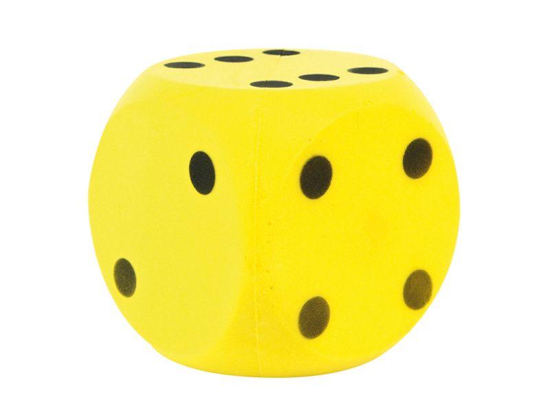 Dobbelsteen Bal Soft Geel 16 Cm