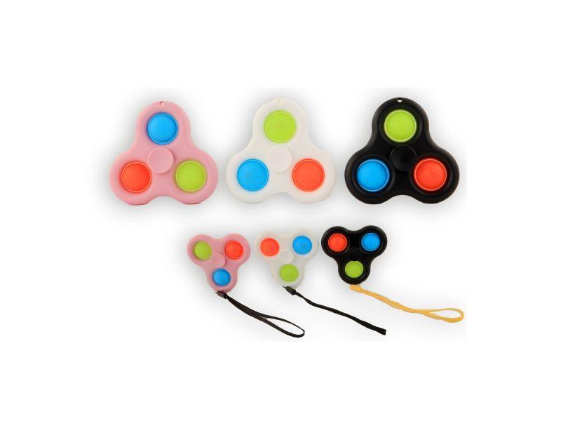 Magic Fidget Pop It Spinner 3 Pops Assorti
