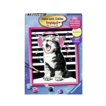 Schilder Op Nummer Zingende Kat