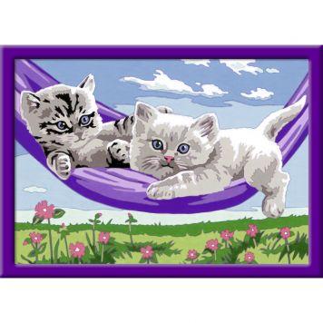 Schilderen Op Nummer Kittens In De Hangmat