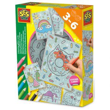 Hobbyset SES Glitterkaarten Inkleuren
