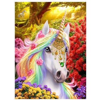 Crystal Art Unicorn Met Frame 50 X 40 Cm