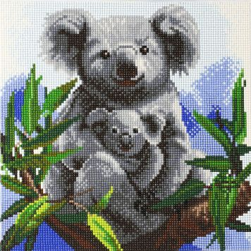 Crystal Art Koalas Met Frame 30 X 30 Cm