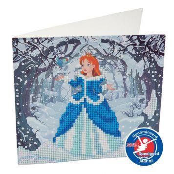 Crystal Art Kaart Princess 18 X 18 Cm