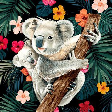 Crystal Art Kaart Koala Met Baby
