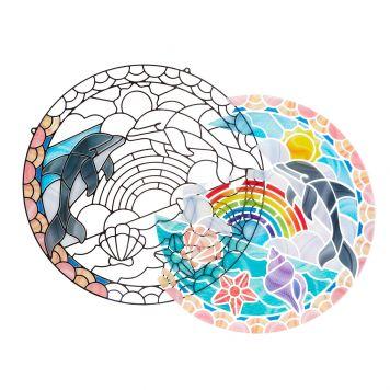 Hobby Glasdecoratie Dolfijnen