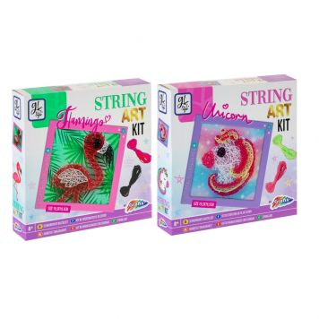String-Art Kit 19,5X19,5CM 2 Assorti