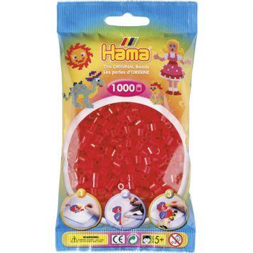 Strijkkralen Hama 1000 Stuks Rood Doorzichtig