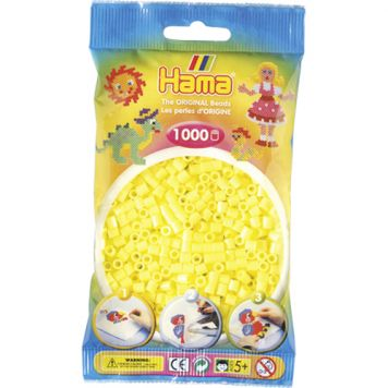 Strijkkralen Hama 1000 Stuks Geel Pastel