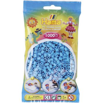 Strijkkralen Hama 1000 Stuks Azuur Blauw