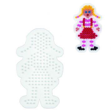 Strijkkralen Grondplaat Hama Meisje Wit
