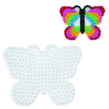 Strijkkralen Grondplaat Hama Vlinder Wit