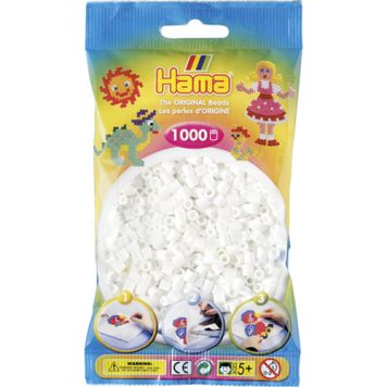 Strijkkralen Hama 1000 Stuks Wit