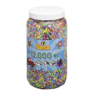 Strijkkralen Hama Ton Met 13000 Stuks Pastel