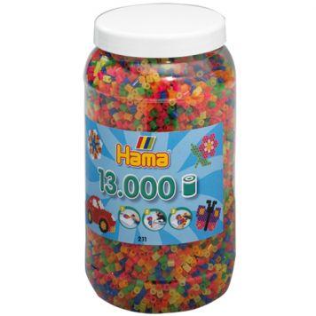 Strijkkralen Hama Ton Met 13000 Stuks Neon