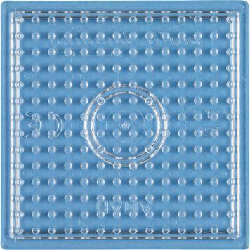 Strijkkralen Grondplaat Vierkant Klein Transparant