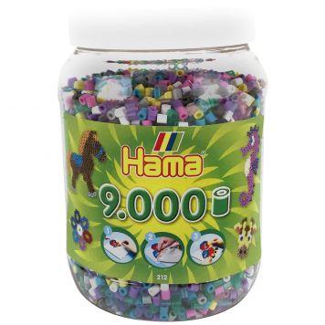 Strijkkralen Hama In Pot 9000 Stuks Assorti