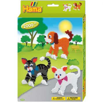 Strijkkralen Hama Hond & Kat 2000 Stuks