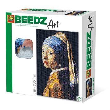 SES BEEDZ ART: Strijkkralen Meisje Met De Parel