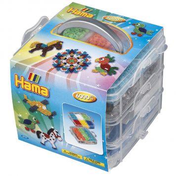 Strijkkralen Opbergbox 6000 En 3 Grondplaten Hama