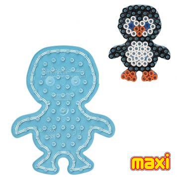 Hama Maxi Strijkkralen Grondplaat Pinguin Transparant
