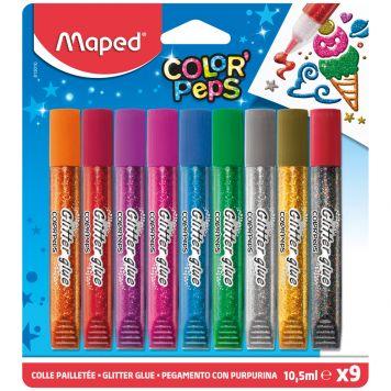 Lijm Maped Glitter 9 Kleuren 10,5 ML