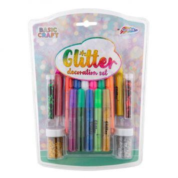 Glitter Decoratie Set