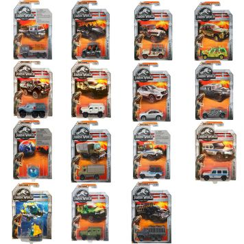 Jurassic World Matchbox Diecast Collectie  (Legacy & Movie) Assorti