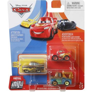 Cars Mini Racers 3 Pack Assorti